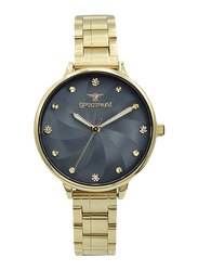 Spectrum Analog Watch for Women, with Stainless Steel Band, S25185L-2, Gold-Blue