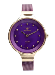 Spectrum Creative Analog Watch for Women, with Mesh Band, S11103L-6, Purple