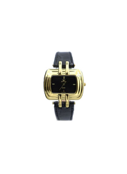 Spectrum Explorer Analog Watch for Women, with Leather Band, 93423L, Black-Black/Gold