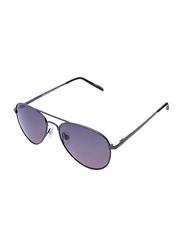 Daniel Klein Polarized Aviator Full Rim Grey Frame Sunglasses for Women, Purple Lens, DK4208C, 16/130