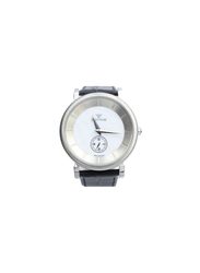 Spectrum Creative Analog Watch for Men, with Leather Band, S12444M, Black-White