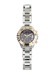 Spectrum Explorer Analog Watch for Men, with Stainless Steel Band and Chronograph, S92988M-3, Silver-White/Silver