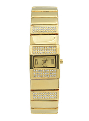Spectrum Analog Watch for Women, with Stainless Steel Band, S22165L-1, Gold