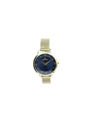 Spectrum Truth Seeker Analog Watch for Women, with Mesh Band, S25176L, Gold-Blue