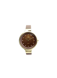 Spectrum Truth Seeker Analog Watch for Women, with Mesh Band, S11103L, Brown-Brown/Gold