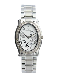 Spectrum Creative Analog Watch for Women, with Stainless Steel Band, S12553L-4, Silver-White