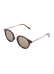 Daniel Klein Polarized Round Full Rim Rose Gold Frame Sunglasses for Women, Brown Lens, DK4214C, 50/14/145
