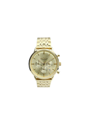 Spectrum Multidimensional Analog Watch for Men, with Stainless Steel Band and Chronograph, S12511M-1, Gold
