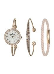 Daniel Klein Analog Watch for Women, with Stainless Steel Band and Water Resistant, DK12100-2, Rose Gold-Silver