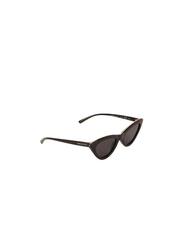 Daniel Klein Polarized Cat Eye Full Rim Black Frame Sunglasses for Women, Black Lens, DK4274C, 52/18/140