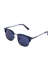 Daniel Klein Polarized Clubmaster Full-Rim Grey Frame Sunglasses for Men, Grey Lens, DK3179C, 50/18/130