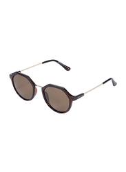 Daniel Klein Polarized Oval Full Rim Brown Frame Sunglasses for Women, Brown Lens, DK4265C, 50/18/140