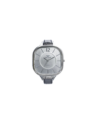 Spectrum Challenger Analog Watch for Women, with Leather Band, 93474L, Black-Silver