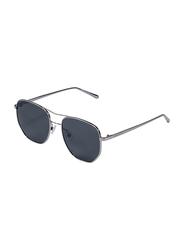 Daniel Klein Polarized Aviator Full Rim Anthracite Frame Sunglasses for Women, Black Lens, DK4259C, 55/18/150