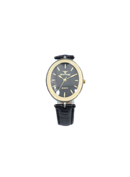 Spectrum Creative Analog Watch for Women, with Leather Band, 93250L-2, Black