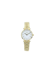 Spectrum Inventor Analog Watch for Women, with Stainless Steel Band, 12582L, Gold-White