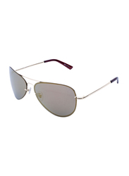 Daniel Klein Polarized Aviator Full-Rim Gold Frame Sunglasses for Men, Brown Lens, DK3164C, 60/20/130