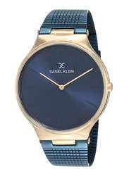 Daniel Klein Analog Watch for Men, with Stainless Steel Band and Water Resistant, DK12144-5, Blue