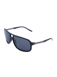 Daniel Klein Polarized Aviator Full-Rim Black Frame Sunglasses for Men, Grey Lens, DK3160C, 60/17/135