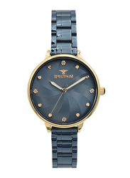 Spectrum Analog Watch for Women, with Stainless Steel Band, S25185L-9, Blue