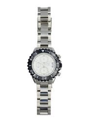 Spectrum Explorer Analog Watch for Men, with Stainless Steel Band and Chronograph, S92988M-2, Silver-White/Black