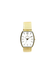 Spectrum Multidimensional Analog Watch for Men, with Stainless Steel Band, 12475M, Gold-White