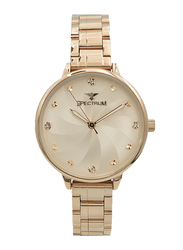 Spectrum Analog Watch for Women, with Stainless Steel Band, S25185L-6, Rose Gold