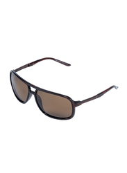 Daniel Klein Polarized Aviator Full-Rim Brown Frame Sunglasses for Men, Brown Lens, DK3160C, 60/17/135