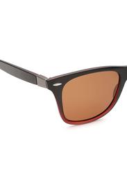 Daniel Klein Polarized Wayfarer Full-Rim Brown Frame Sunglasses for Men, Brown Lens, DK3030C, 50/12/140