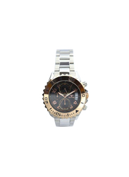 Spectrum Explorer Analog Watch for Men, with Stainless Steel Band and Chronograph, S92988M, Silver-Black/Gold
