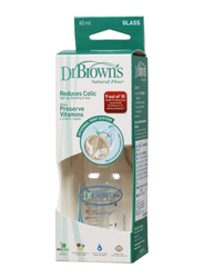 Dr.Browns Glass Baby Feeding Bottle, 60ml, Clear