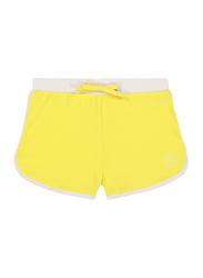 Ki Et La Screech Polyester/Lycra Baby Girl Short, Size 2, 12 Months, Yellow/White