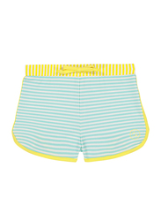 Ki Et La Screech Polyester/Lycra Baby Girl Short, Stripe, Size 4, 2-3 Years, Yellow/Green/White