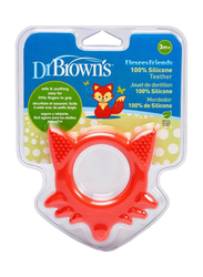 Dr. Browns Flexees Friends Fox Teether, 3+ Months, Red