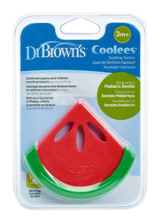 Dr. Browns Soothing Teether, 3+ Months, Watermelon Coolees, Red/Green