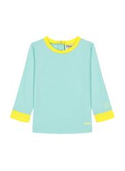 Ki Et La Pop Polyester/Lycra Baby Girl Top, Size 2, 12 Months, Green/Yellow
