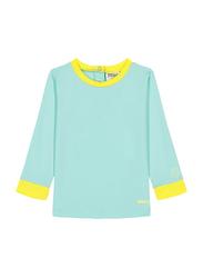 Ki Et La Pop Polyester/Lycra Baby Girl Top, Size 1, 6 Months, Green/Yellow