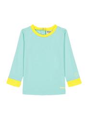 Ki Et La Pop Polyester/Lycra Baby Girl Top, Size 3, 18 Months, Green/Yellow