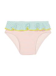 Ki Et La Annette Polyester/Lycra Baby Girl Pantie, Stripe, Size 2, 12 Months, Green/Orange/White