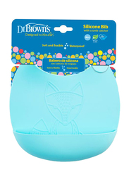 Dr. Browns Silicone Bib, 4+ Months, Turquoise