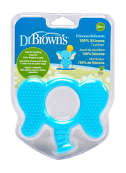 Dr. Browns Flexees Friends Elephant Teether, 3+ Months, Blue