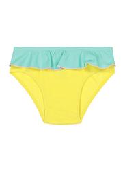 Ki Et La Annette Polyester/Lycra Baby Girl Pantie, Size 2, 12 Months, Yellow/Green