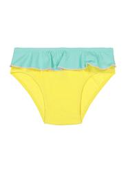 Ki Et La Annette Polyester/Lycra Baby Girl Pantie, Size 3, 18 Months, Yellow/Green