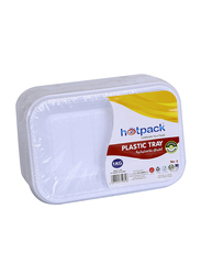 Hotpack No.2 10-Piece Plastic Rectangular Tray Set, PAV2HP, White