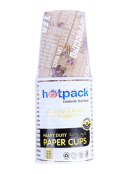 Hotpack 8oz 20-Piece Heavy Duty Paper Cup Set, HSMPHDC8HP, Brown