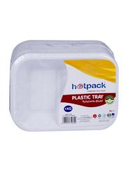 Hotpack No.1 10-Piece Plastic Rectangular Tray Set, PAV1HP, White