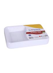 Hotpack No.4 10-Piece Plastic Rectangular Tray Set, PAV4HP, White