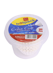 Hotpack 5.5cm 100-Piece Paper Disposable Cake Cup, PCC5.5, White