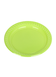 Hotpack 9-inch 25-Piece Colored Plastic Round Plate Set, CPP9, Multicolor