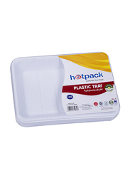 Hotpack No.5 10-Piece Plastic Rectangular Tray Set, PAV5HP, White